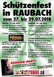 Schutzenfest Raubach Plakat 2018
